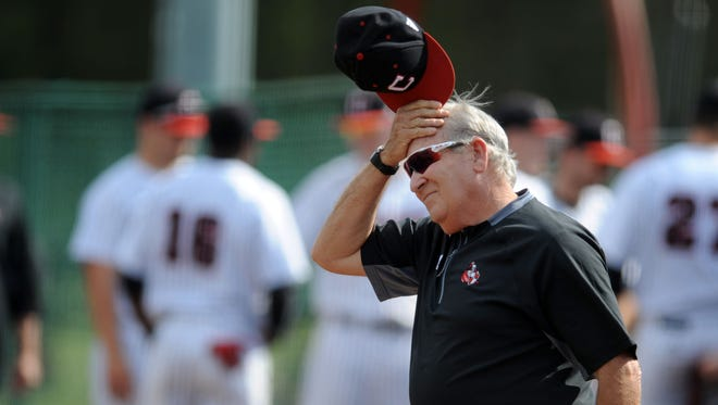 William Carey head coach Bobby Halford walks onto the field Tuesday before a game against Tougaloo College at Milton Wheeler Field.