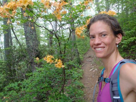 Accomplished hiker Jennifer Pharr Davis of Asheville