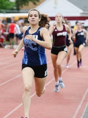 Morris Catholic junior Kate McAndrew leads the 800