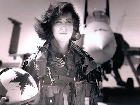 "This is Tammie Jo Shults from the early 1990s. As one of the first female fighter pilots in the U.S. military, Tammie Jo Shults, is no stranger to displaying 'nerves of steel."" Cool, calm and deliberate, Shults brought her twin-engine Boeing 737 in for an emergency landing after the Southwest jet apparently blew an engine on a flight Tuesday from New York's LaGuardia airport to Dallas.Then she walked the aisles to check on each passenger personally, according to WPVI-TV."