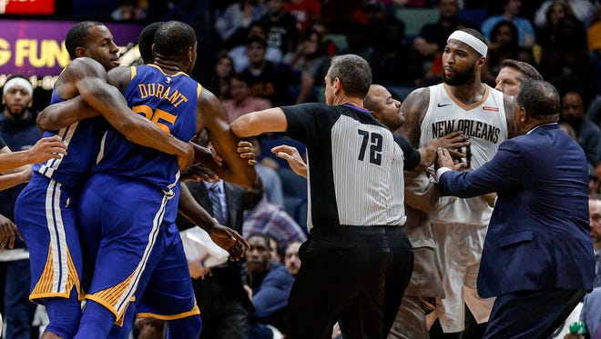 Last December, DeMarcus Cousins and Kevin Durant  were ejected following a scuffle. They will now be teammates next season with the Golden State Warriors.