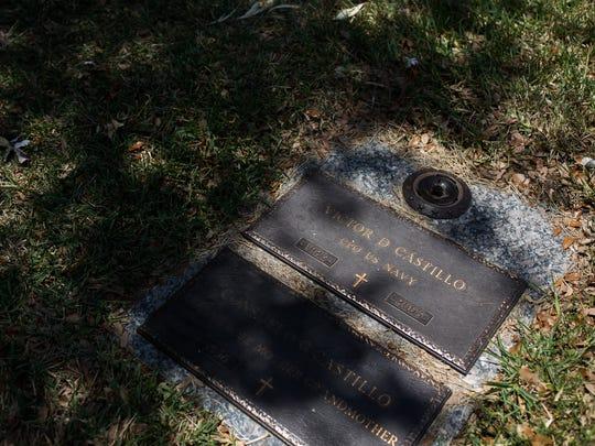 Victor Castillo grave site in the Memory Gardens Cemetery,