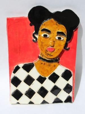 Artwork by Kennesha Britt, grade 12, will be part of the exhibit.