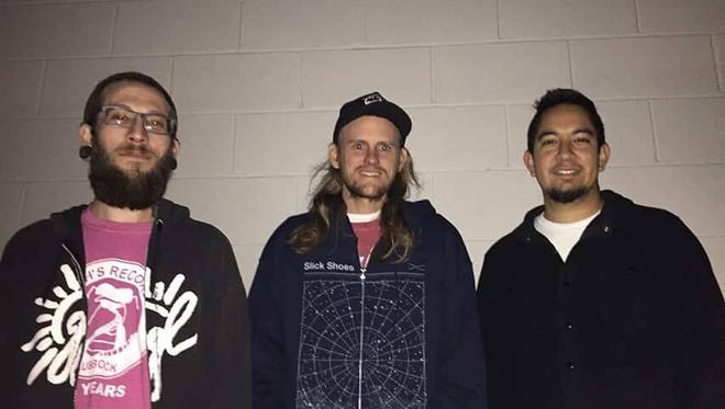 Chad Harris, Drew Fish and Martin Delgado (from left) form Thick Tread and will host an annual punk music Christmas fest this weekend in San Angelo.