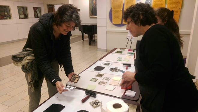 Patients, visitors and hospital staff had a chance to try their hand at printmaking at Overlook Medical Center, guided by master printmaker Eileen Foti, the guest artist for Atlantic Health System's fourth annual Artist in Residence program.