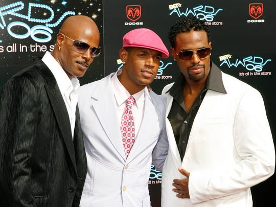 Keenen Ivory Wayans, from left, Marlon Wayans and Shawn Wayans arrive for the BET Awards in Los Angeles on June 27, 2006.