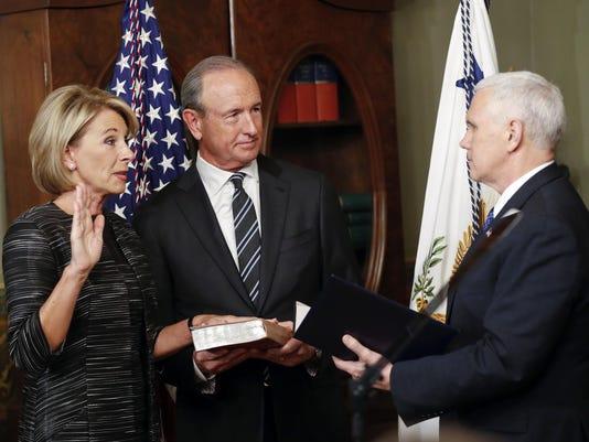Mike Pence,Betsy DeVos,Dick Devos