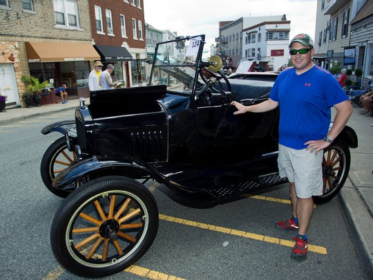 Parsippany resident Brad Seabury shows off an oldie but goody at last year's car show in Boonton.