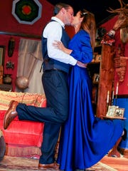 """Tony Kirby (Kevin Hendrdicks) and Alice Sycamore (Stacey Boisvert) attempt to reconcile both their unusual families with their love in The Studio Players' """"You Can't Take It With You."""""""