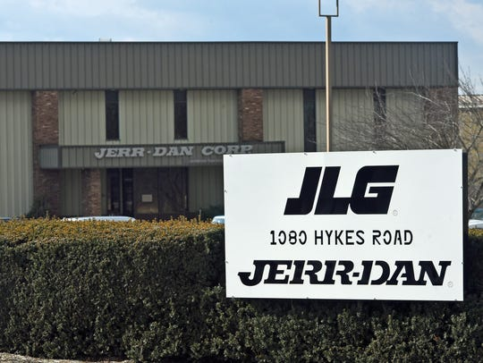 JLG, 1080 Hykes Road, photographed Thursday, February 2, 2017, moved production from plants in Ohio and Europe to Greencastle in 2017.