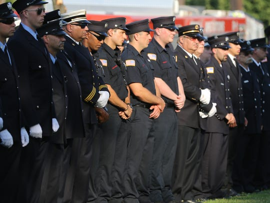 Hundreds gathered in Hackensack to remember members of the fire department who perished on the job. Sunday, July 1, 2018
