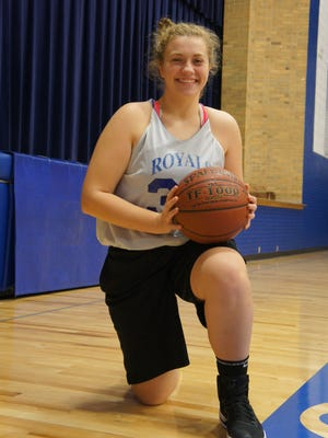 Assumption junior Erin Sullivan is developing into a strong player on both ends of the court.