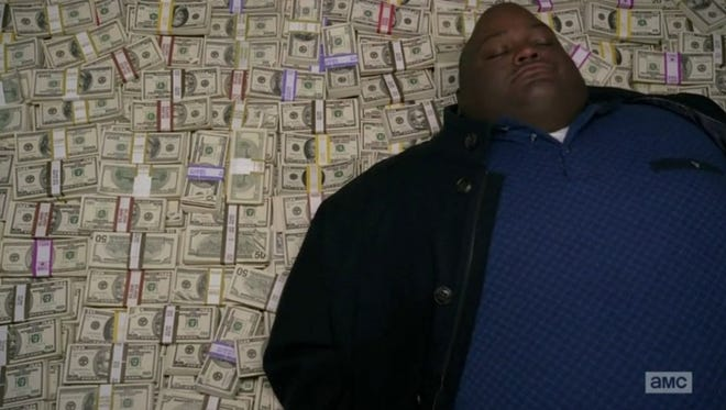 """As Huell Babineaux on """"Breaking Bad,"""" Lavell Crawford enjoyed lying on big piles of money."""