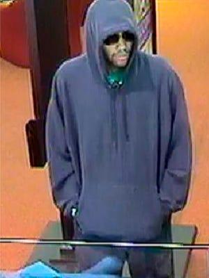 Elmira Savings Bank robbery suspect.