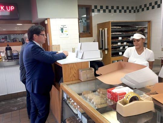 Who doesn't love Long's? Boles buys four dozen donuts