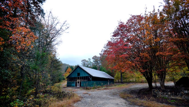 The old site of Camp Spearhead on Oct. 29, 2015.