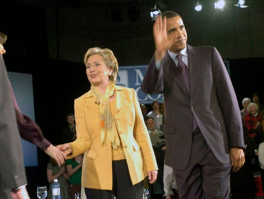 Hillary Clinton and Barack Obama took part in a candidates