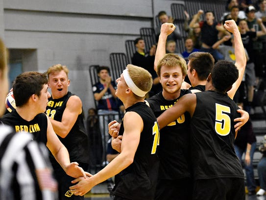 Red Lion celebrates a 3-0 win over Central York during