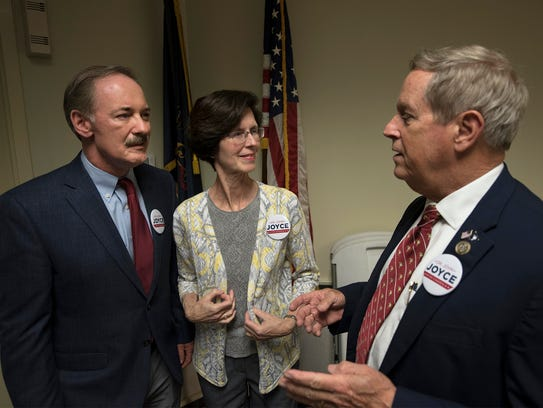 Dr. John Joyce, left, candidate for Congress for the