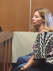 Alycia Dotro attends the sentencing of her husband,