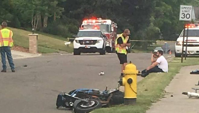 Broome County Sheriff's deputies at the scene of Sunday's fatal crash involving a motorcycle in Endwell.
