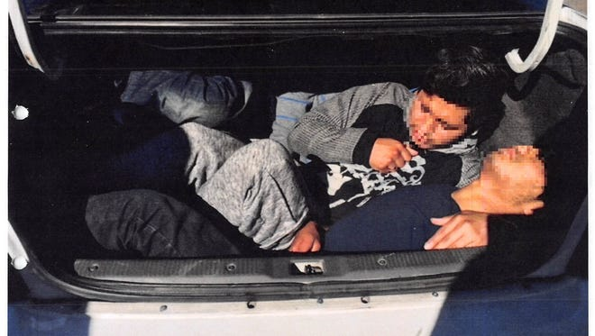 The three men are being processed on immigration violations, U.S. Customs and Border Protection said.