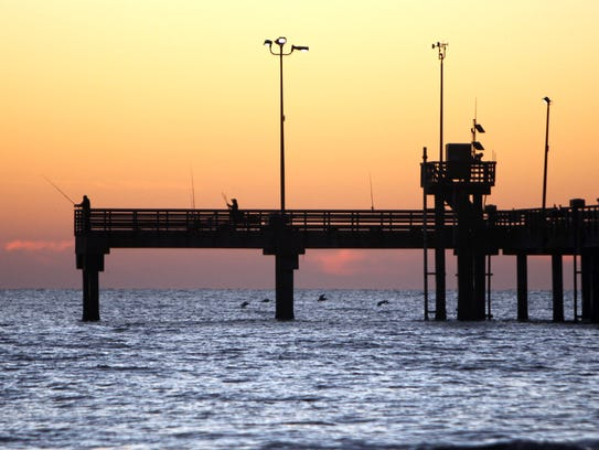 Bob Hall Pier in Padre Balli Park is open year-round,