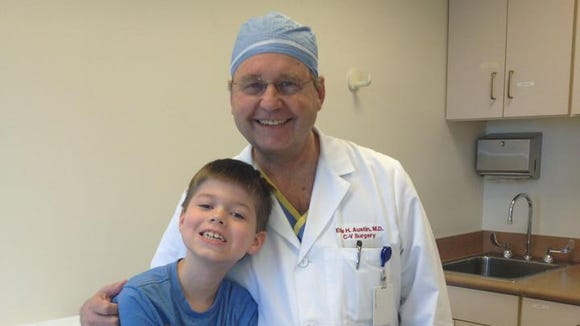 Ben Paul and Dr. Earl Austin, the surgeon who performed his open heart surgeries.