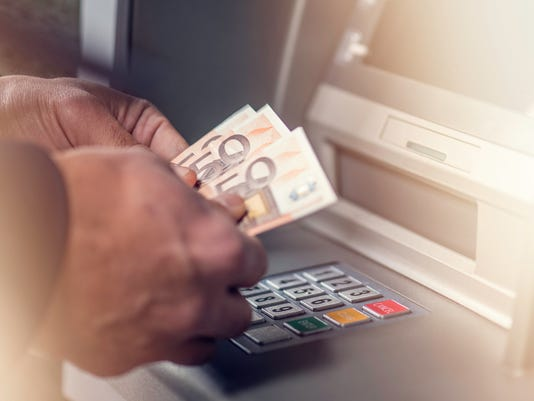 Euro cash withdrawals from ATM