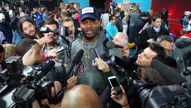 Unlike nearly every player on Monday night, Martellus Bennett did not shy away from controversial topics.