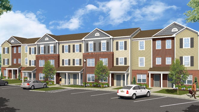 Rendering of typical residental building at Camp Salute in Clayton