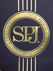 The Society of Professional Journalists logo.