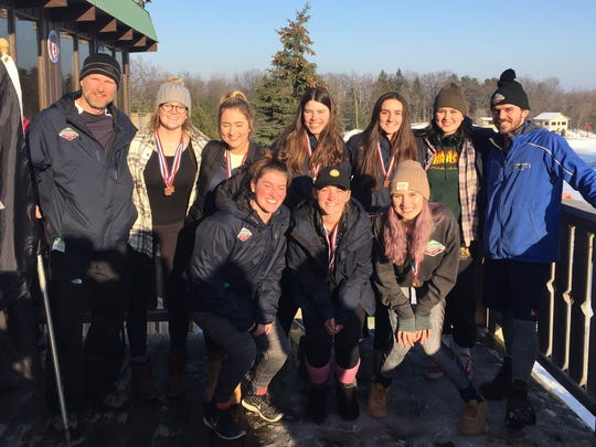 The Birmingham Unified ski team is a Division 1 state meet qualifier for the second straight year following its regional performance Wednesday at Pine Knob. Team members include Kate Bridges, Maya Rice, Kelly Pierce, Maria Sagante, Nia Kepes, Grace Latek, Isabelle Sims and Maria Ferrari. The coaches are Justin Janssen (head) and Todd Hoover (assistant).