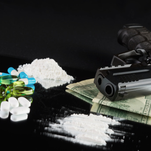 Police said drugs, cash, guns and vehicles were seized in an ongoing multicounty narcotics trafficking investigation. This is a photo illustration and is not what officers seized.
