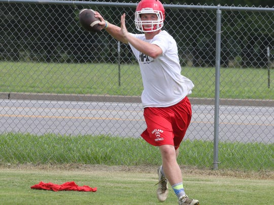 Oakland junior Brendan Matthews, an Independence transfer, is competing with Cody Miller for the starting quarterback position.