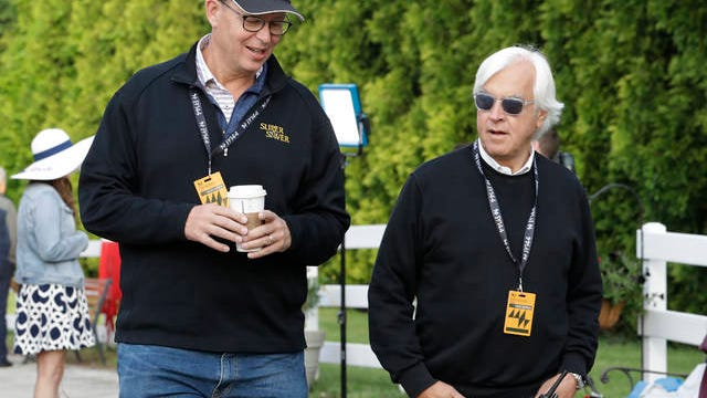 Veteran trainer Bob Baffert (right) will have to adjust preparations for his Kentucky Derby participants, as the race will move from its customary May date to Labor Day weekend in light of coronavirus outbreak precautionary measures.