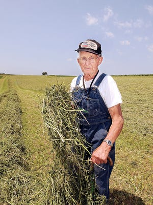 Approaching his 90th birthday, Don Seibel stays busy on his family's Chippewa County farm between Tilden and Bloomer.