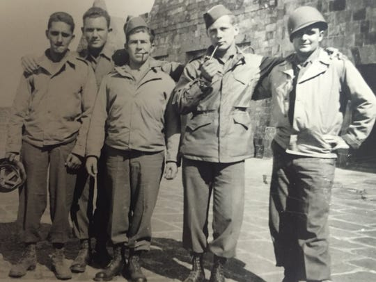 Bob Rohde and his Army buddies posed for this photo