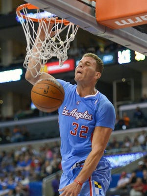 Clippers forward Blake Griffin dunks against the Cavaliers at Staples Center in Los Angeles in March, 2014.