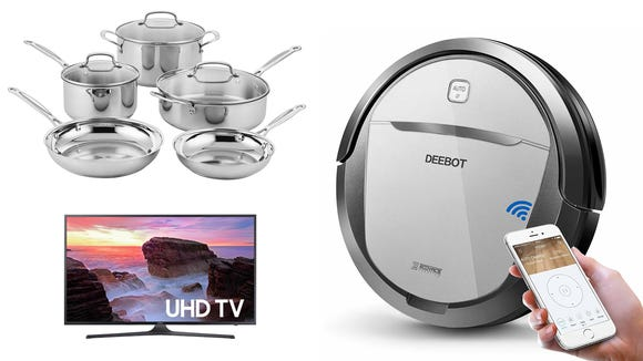 Today's best Amazon deals are on TVs, robot vacuums, cookware, and more.