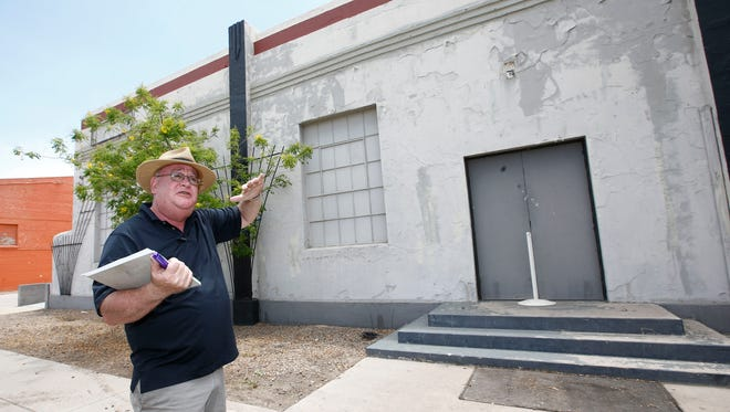 Jack Bell, assistant executive director of the Arizona State Fair surveys an historic building at the Arizona State Fair Grounds that is scheduled to be razed tomorrow in Phoenix, AZ. . The art deco building dates back to around 1938 and was constructed by the federal government as part of a New-Deal era program to lower unemployment during the Great Depression.