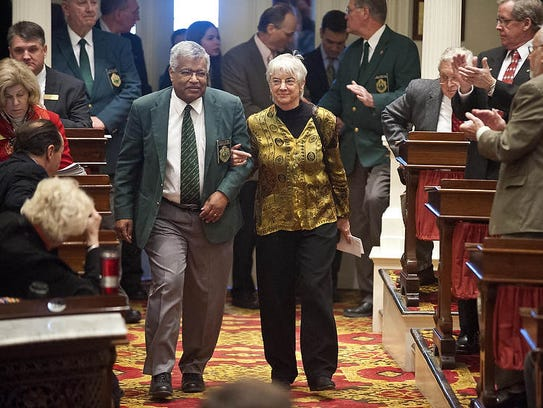Francis Brooks, pictured in 2014 as sergeant-at-arms