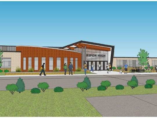 And artist's rendering of the new Ripon High School.