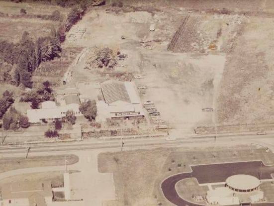 The Garden Factory site as it appeared in the 1970s.