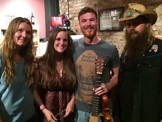 Stacey and Jordan with Chris and Morgane Stapleton