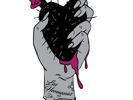 The logo for the Las Hermanas de Sangre year-long art