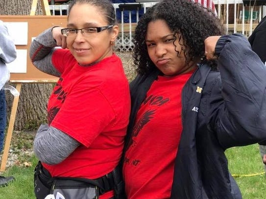 Ayanna Yhap (right) with her mom Melissa Townsend.