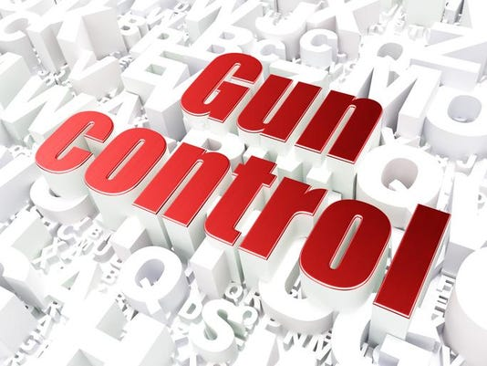 Safety concept: Gun Control on alphabet background