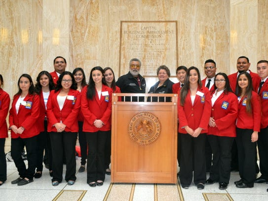 Team membes of Deming High School's SkillsUSA program