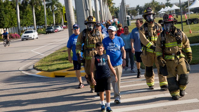 The Blue Zones Project of Southwest Florida hosted a mile-long community walk from Cambier Park in downtown Naples to the Garden of Hope and Courage at the NCH campus in honor of National Walking Day on Wednesday, April 5, 2017.